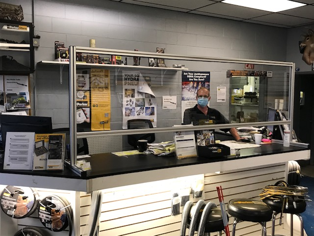 Stratford_ParkerStore_Counter_Barriers_for_COVID-19_Safety-Progressive_Hydraulics_Inc