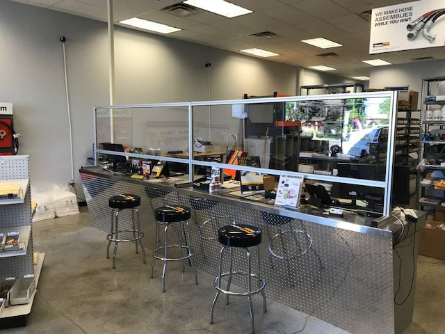 Westbury_ParkerStore_Counter_Barriers_for_COVID-19_Safety-Progressive_Hydraulics_Inc